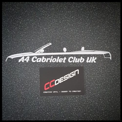 A4 Cabriolet Club Sticker
